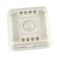 White Lamp PIR Auto Sensor Motion Detector Light 8 LED - Silver