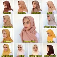 Jilbab Hijab Voal Polos Segi Empat Umama Boleh Pilih Warna