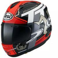 Arai RX-7X TT IOM 2018 Original Helm Full Face - Red Black