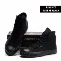 TERLARIS Sepatu Sekolah Converse All Star Full Black Hitam High Ting