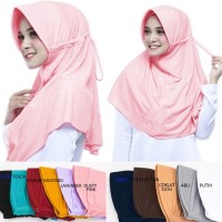 Jilbab Instan Safira Pad/Ped Serut Khimar Hijab Instan Jilbab Sekolah