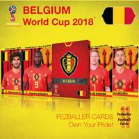 Fezballer Cards Kartu Bola tim BELGIUM Belgia World Cup 2018