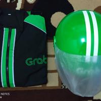 Helm dan Jaket Grab