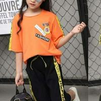 Baju anak tanggung perempuan import branded top orange pant list gi cca7b7a27a