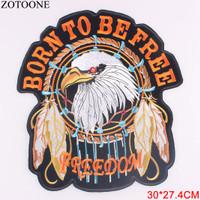 Patch Born To Be Free Biker Motorcycle Harley Davidson Bordir