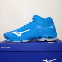 Sepatu Volley Mizuno Wave Lightning Z4 Mid Blue Hawaiian V1GA180598 896a61a26c