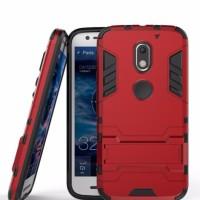 Hard Soft Case Casing Hp Motorola Moto E3 Power Armor Stand Silikon 3D