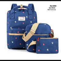 19574f198c7c Anello Tulip Set 3In1 Backpack Slingbag Pouch Pocket - Ivory