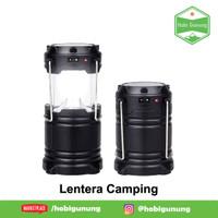 Lampu Camping Lentera Otomatis Solar Zoom Baterai Awet Senter Terang
