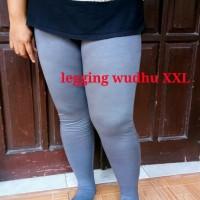 Legging Wudhu Jumbo XXL, Celana Leging Wudhu Spandek Rayon Adem Murah