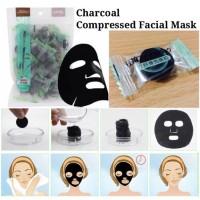 [ Ecer 1 pc ] Charcoal DIY Compressed Facial Mask - Masker Arang