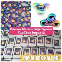 RAINBOW TITANIUM Tri Bubble FIDGET SPINNER