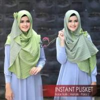Instant plisket jilbab instan best seller 2018