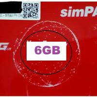 Jual Perdana data telkomsel simpati 6GB Total  KUOTA 6 gb Murah
