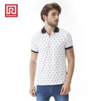 Ramayana - RAF - Polo Shirt Wangky Motif Wajik Putih