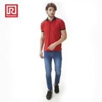 Ramayana - RAF - Polo Shirt Wangky Motif Wajik Merah