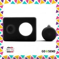 Silicon Case & Lens Cap untuk Xiaomi Yi - Black