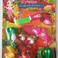 Mainan Buah dan Sayuran Potong