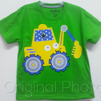 Baju kaos karakter anak laki-laki oshkosh mobil keruk 7-10