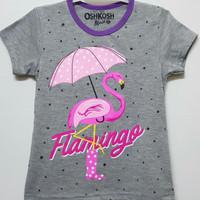 Baju kaos karakter anak perempuan oshkosh flamingo 7-10