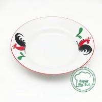 Piring Lauk Ayam Jago Seri 2 / Ukuran 17cm / Piring Saji Kecil