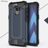 Hardcase Spigen Iron Metal Cover Case Casing HP Samsung A8 Plus 2018