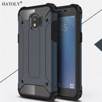 Hardcase Spigen Iron Metal Cover Case Casing HP Samsung Galaxy J2 Pro