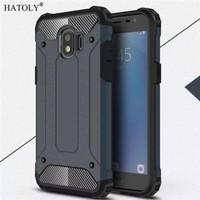 Hardcase Spigen Iron Metal Cover Case Casing HP Samsung Galaxy J2 Pro