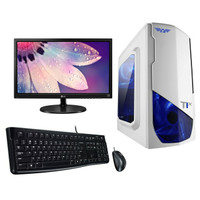 Paket PC Komputer Rakitan Gaming Murah AMD 8 7650K LED 20' M+K Genius