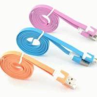 New Kabel Data USB Universal V8 Warna-Warni untuk Ponsel Samsung / HTC