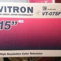 TV TABUNG 14 inch VITRON VT-07SF FREE ANTENA DALAM Murah