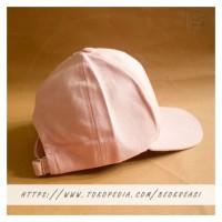 Topi Baseball Cap Baby Pink Muda Dewasa Polos Pria Wanita Casual Sport