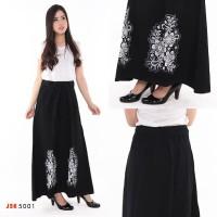 ORI JSK 5001 Rok Panjang Wanita Warna Hitam Jeans Non Stretch Trendy