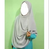 Pashmina Instan Syar'i Pashtan Wollycrepe Jilbab Lebar Hijab Panjang