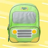 Moosca BackPack Tas Ransel Anak Bus Bis Unique Import Green Hijau