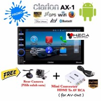 Paket Clarion AX 1 Sistem Android GPS Head Unit Tape Double din AX1