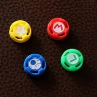 Nintendo Switch joycon controller thumb grip, desain mario, analog cap