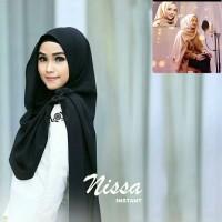 Jual Pashmina Instan Nissa Sabyan Hitam / Grosir Jilbab / Motif Hijab Murah
