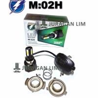 Lampu Headlamp LED Motor NEW RTD M02H 4 sisi titik AC DC PREMIUM