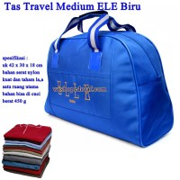 Tas Travel Kulit ELE Medium biru