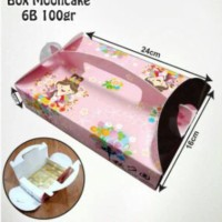 6B-100GR-BOX MOONCAKE-PINK PRINCESS