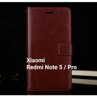 Flip Cover Xiaomi Redmi Note 5 Note5 Pro Wallet Leather Case Casing HP