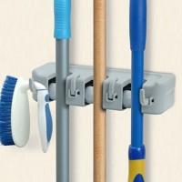 [ 3 SLOT] Gantungan sapu alat pel dengan hook 3 slot magic mop holder