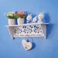 Decorative Rack rak Shabby chic (dengan 5buah hook gantungan) A572
