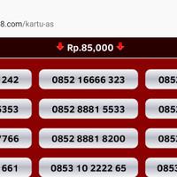 Jual nomor cantik kartu as perdana telkomsel nocan murah gsm rapih bagus Murah