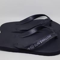 Sandal sun swallow hitam 6 pcs termurah