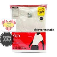 T-Shirt / Kaos Dalam / Oblong RIDER PUTIH / V Neck - Style R222B