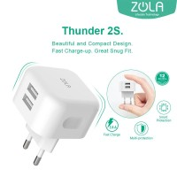 Charger USB ZOLA Thunder 2S 12W Fast Charging 2.4A - 2 ports