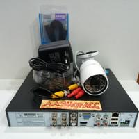 Paket CCTV DVR 4CH Full HD + 1 Kamera Outdoor 3MP + Hdd 500GB Lengkap