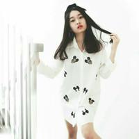 Harga Hem Putih Wanita Lengan Panjang Travelbon.com